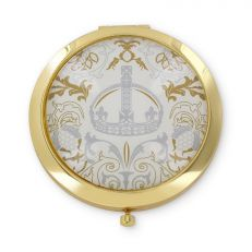 Royal Victoria Luxury White Compact Mirror front