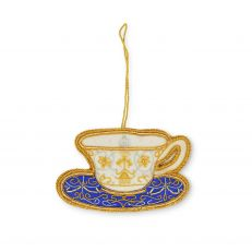 Royal Victoria tea cup decoration- handmade hanging decoration