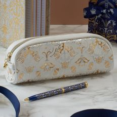 Royal Victoria Luxury White Pencil Case