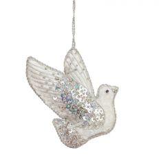 Silver Jewel Dove Decoration