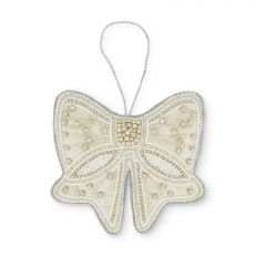 Bow sequin hanging decoration