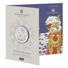 The Royal Mint Queen's Beasts The Yale of Beaufort 2019 UK £2 Silver Proof coin in case