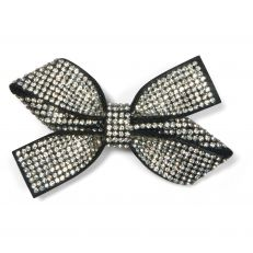 Princess Diana inspired silver diamante bow brooch