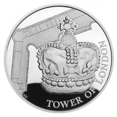 The Royal Mint Tower of London 'The Crown Jewels' UK £5 Silver Proof coin