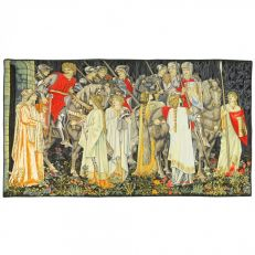 The Arming and Departure of the Knights tapestry (without border)