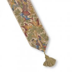 Cherry pickers tapestry bell pull