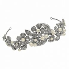 Butler And Wilson Wildflower Swarovski crystal and pearl tiara