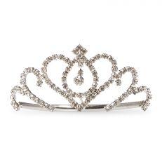 Silver tiara hair comb