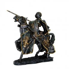 Queen's champion medieval jousting knight resin model