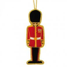 London Royal Guardsman tree decoration with union jack badge