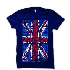 Navy Union Jack mens t-shirt