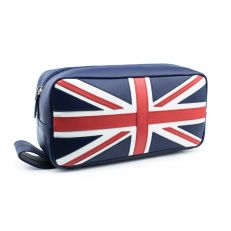 Union Jack luxury leather washbag