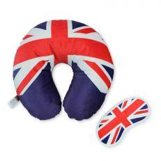 Union Jack travel pillow and eye mask gift set