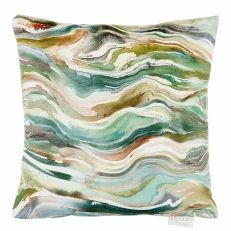 Luxury verde forest square cushion
