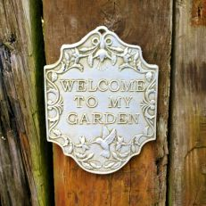 Welcome to my garden stone plaque - made in the UK