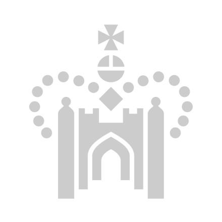 Kensington Palace Gates unicorn gold leather key fob