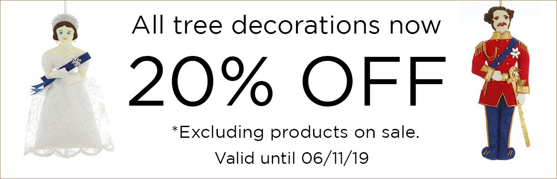 Sale 20% tree decorations