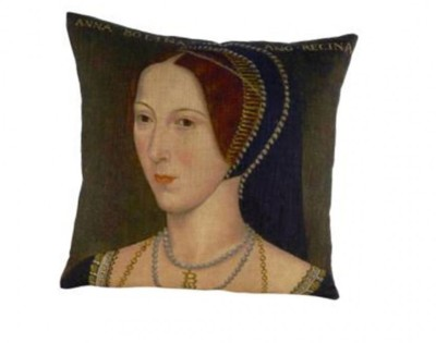Anne Boleyn portrait cushion