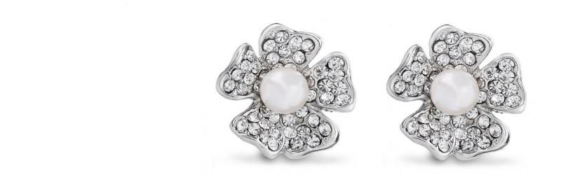 Wildflower Crystal and Pearl Earrings