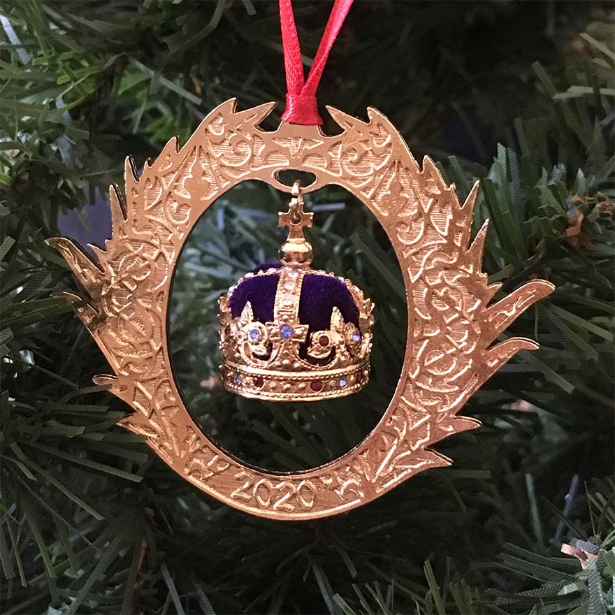 Crown jewels dated decoration