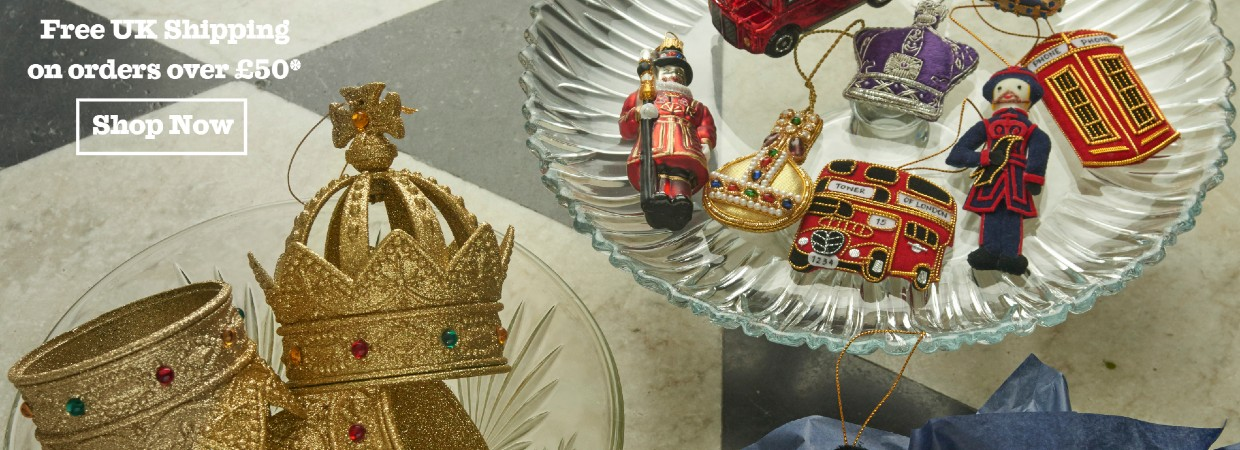 Christmas decorations with free UK shipping
