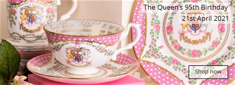 Queen's 95th commemorative chinaware set